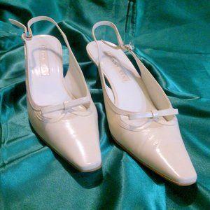 GIANNI BINI Vintage Pointed Toe Sling Back Shoes